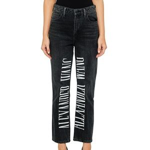 Alexander Wang Black Logo Embroidery Cult Jeans